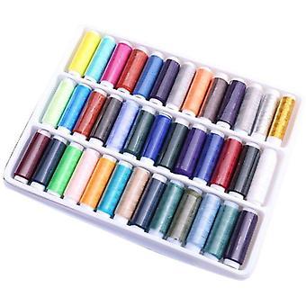 39 Surtido Color Poliéster Hilos de Costura Juego de carrete para coser de la máquina de mano