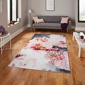 Floo24 Bloemen tapijten door Michelle Collins in rose zwart