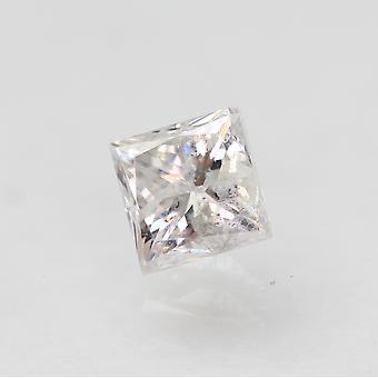 Gecertificeerde 0.45 Karaat E SI2 Princess Enhanced Natural Loose Diamond 3.81x3.73mm