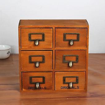 Retro-Stil, Holz Lagerung Cabonet mit 6 Schubladen