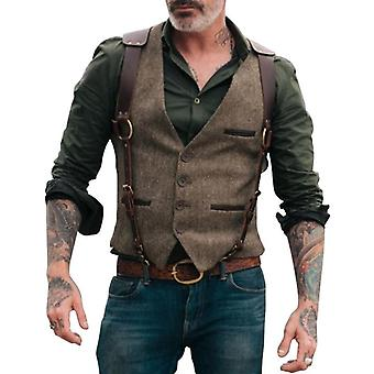 Suit Vests Victorian Steampunk Cosplay Mens Waistcoat