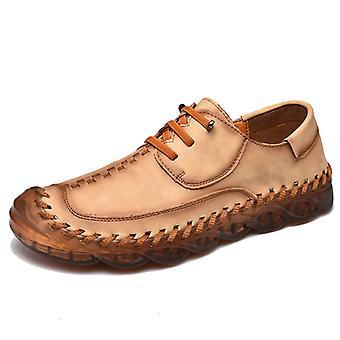 Zapatos Casual para Hombre Mocasines de Cuero 587 Khaki