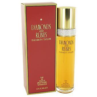 DIAMONDS & RUBIES by Elizabeth Taylor Eau De Toilette Spray 3.4 oz / 100 ml (Women)