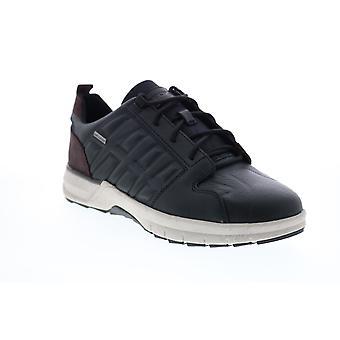 Geox U Keelback B Abx Herren Schwarz Leder Euro Sneakers Schuhe
