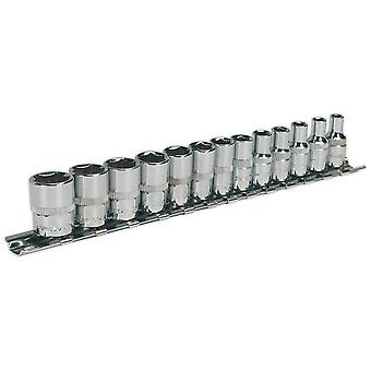 "Sealey AK2691 Socket Set 13pc 1/4""sq Drive Walldrive Metric"