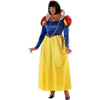 Womens Classic Snow White Plus Size Fairy Tale Books & Film Fancy Dress Costume