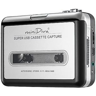 Tape to PC Super USB Cassette-to-MP3 Converter Capture Audio Music Play
