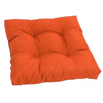 Coussin de chaise à manger touffu en polyester filé de 19 pouces - Tangerine Dream