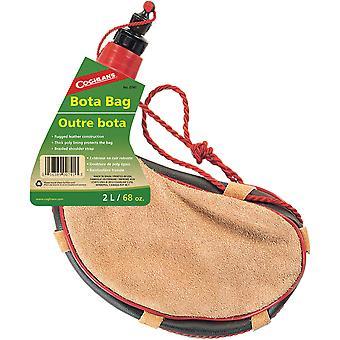 Coghlan's Bota Bag, 2-Liter Rugged Leather Spanish Wine Skin Heavy Poly Lining