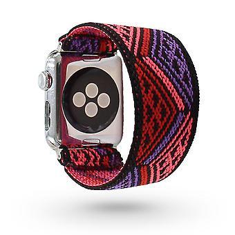 Český elastický nylonový slučkový popruh na hodinky Apple Watch ( Sada 4)