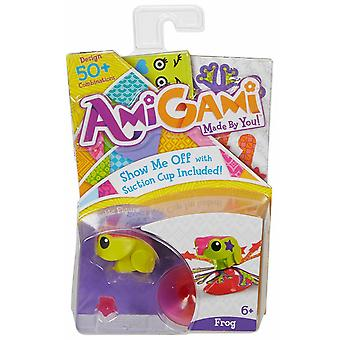 Amigami mini pet frog with suction cup