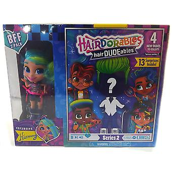 Hairdorables hairdudeables series 2 bff pack (13 surprises) harmony