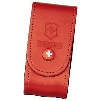 Victorinox röd läderbältespåse (5-8 lager) -