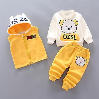 Baby New Cotton Three-piece Leisure Sports Stars Denim Clothes Suits