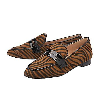Ravel Tan Zebra-Print Luis Loafers