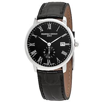 Frederique Constant Slimline Black Dial Men's Watch FC-245BR5S6