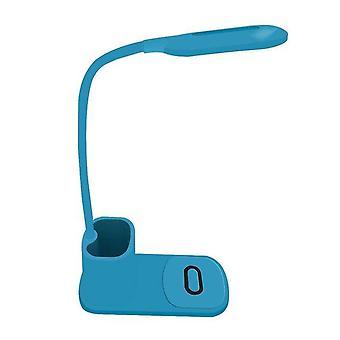 Tabellampe undersøgelse førte skrivebordslampe med telefon trådløs oplader pen indehaveren hurtig oplader dimmable eye-caring kontorlampe