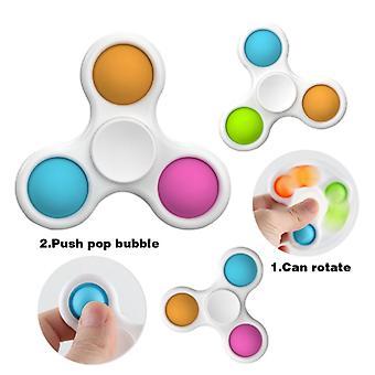 2 stuks Vingertop Spinner Bubble Pop It Toys Antistress Fidget Toys Sensory Fidget Toys Stress Relief Met Fidget Hand Toys