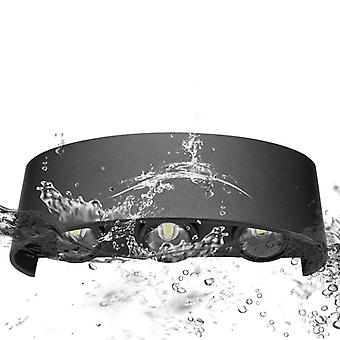 Led Wall Lamp waterproof 2W 4W 6W 8W Wall(Black)