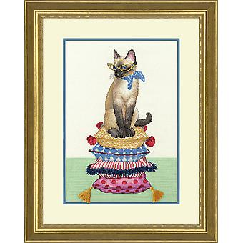 Mått räknade Cross Stitch Kit: Cat Lady