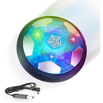 XGF Kids Toys Hover Soccer Ball Gift Rechargeable Air Power Floating Football Sport Ball with LED