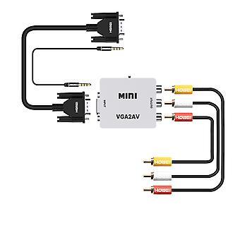 Mini VGA AV-videomuunnin, VGA RCA: lle, PC: stä TV-sovittimeen