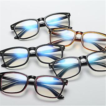 Luz azul, gafas de bloqueo, óptica cuadrada, marco de anteojos