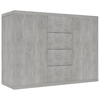 vidaXL Dressoir Beton Grijs 88 x 30 x 65 cm Spaanplaat