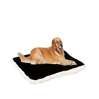 ブラックドッグベッド大型クレートベッドマット100*80cmペットベッド洗濯可能x3991