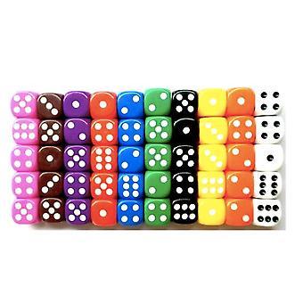 100-pack dés / dés - Six faces pour la fête / jeu / puzzle