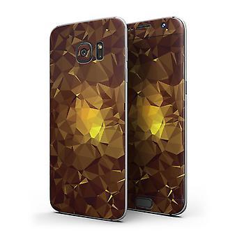 Orange Geometric V16 - Full Body Skin-kit For The Samsung Galaxy S7 Or