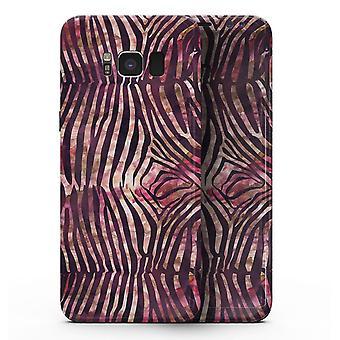 Wine Watercolor Zebra Pattern - Samsung Galaxy S8 Full-body Skin Kit