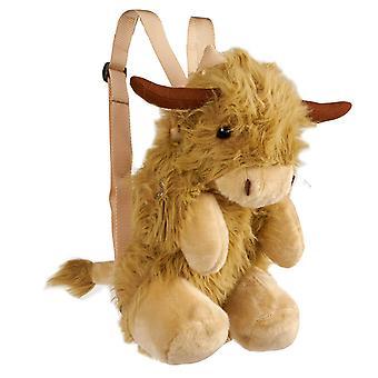 Super Soft Highland Cow Backpack