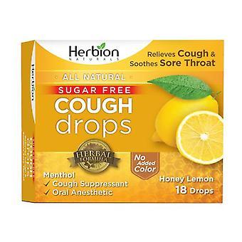 Herbion Naturals Cough Drops, Sugar Free Honey Lemon 18 Lozenges