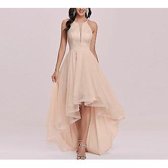 Nő Party Night Tüll A Line O-nyakú magas gyöngyfűzés Elegáns formális ruhák