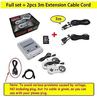 1600 Games 64 bit arcade 4k mini hd tv retro video game console controller handheld classic for snes dual gamepad player