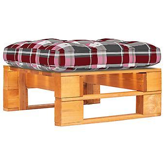vidaXL Garden Pallet Stool Honey Brown Impregnated Pine Wood