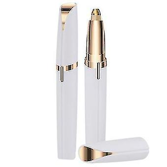 Women's Flawless Brows Facial Hair Remover Electric Eyebrow Trimmer Epilator(White)