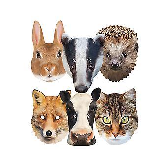 الحيوانات البريطانية متنوعة 2D حزب أقنعة بطاقة 6 حزمة