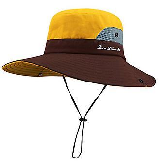 YANGFAN Kids Summer Sun Hat Wide Brim UV Protection Bucket Cap