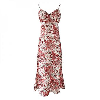 Women's  French Floral V-neck Dress For Vacation