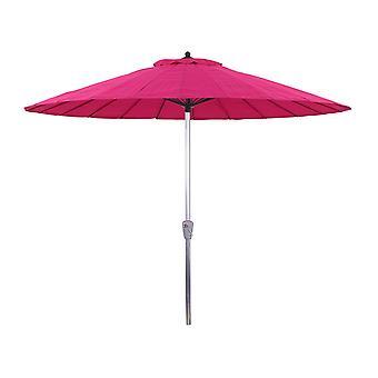 Parasol de jardin en aluminium Lili - Style japonais- Ø2.7m - Fuchsia