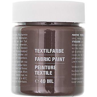 Mörkbrun tygfärg för lätta tyger - 40ml