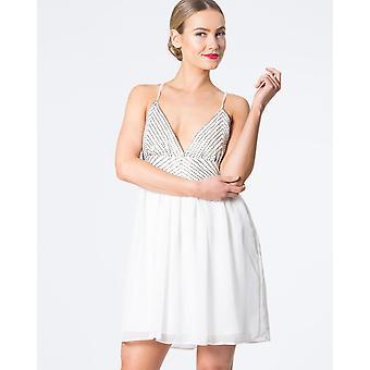 Double Strap Beaded Mini Dress