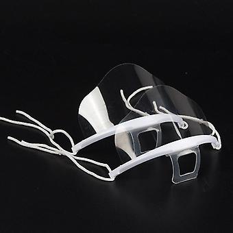 5pc- Transparent Permanent, Anti-fog Catering Food, Hotel Plastic Mask