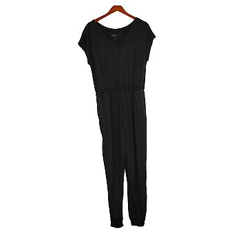 Comfort Code Jumpsuits Stretch Jersey Jogger One-Piece Black 754495