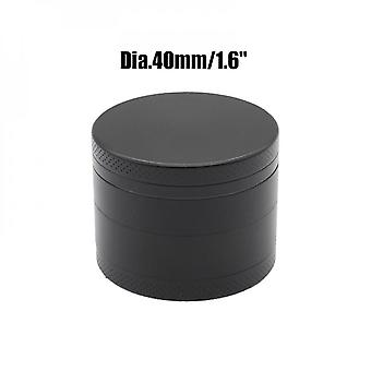 40mm Aluminum Alloy Metal Grinder, 4 Layer Tobacco And Weed Grinder