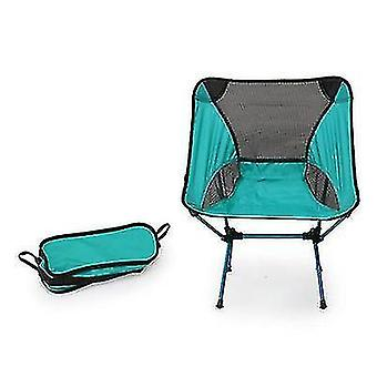 Outdoor Portable Camping And Beach Barbecue Fishing Folding Chair(Blue)