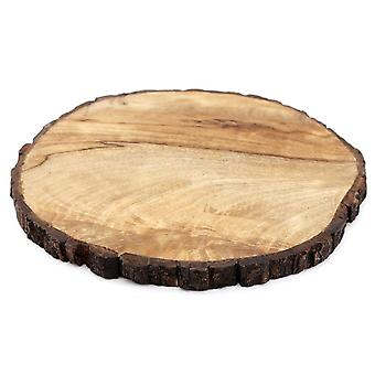 Round Wooden Bark Board Large