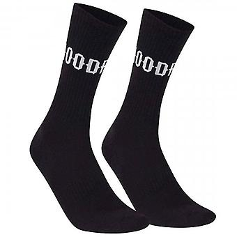 Hoodrich OG Core 3 Pack Rib Logo Black Sport Socks